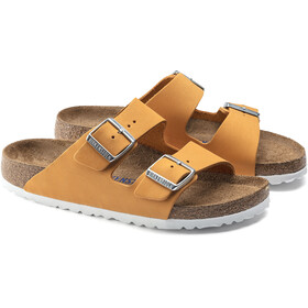 Birkenstock Arizona Sandals Nubuck Leather Soft Footbed Narrow Women, orange